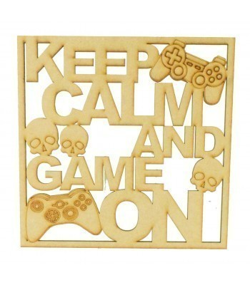 Laser Cut 'Keep Calm And Game On' Framed Gaming Sign